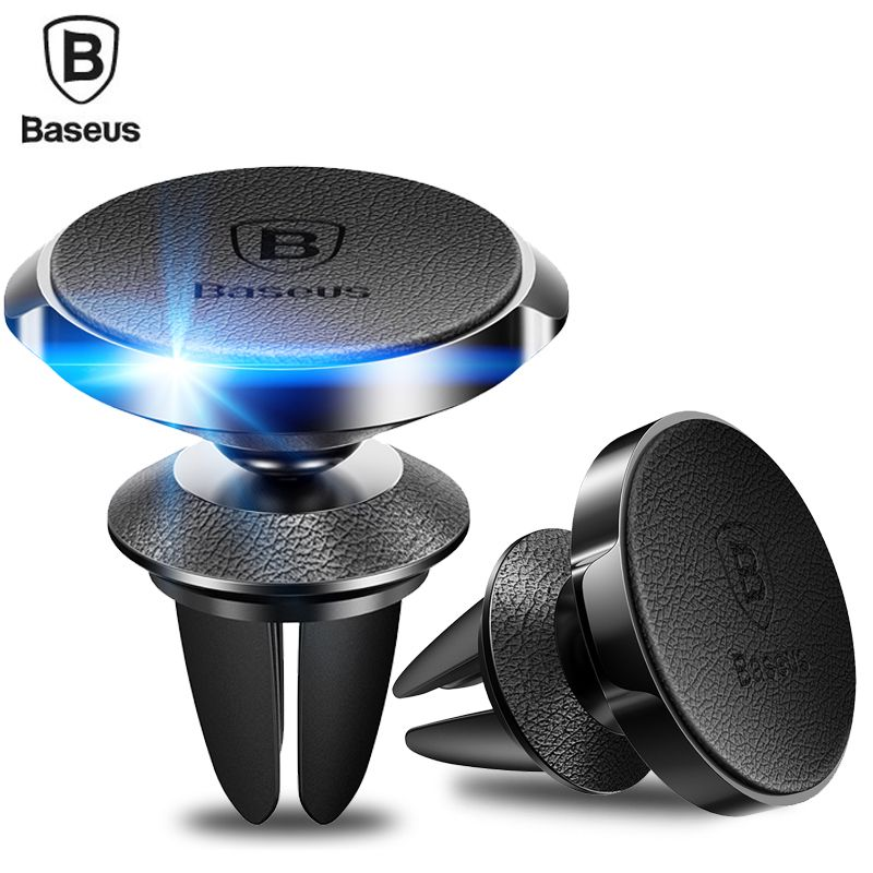 Baseus Leather Magnetic Car Phone Holder Universal 360 Degree Mobile Phone Holder Stand For iPhone Air Vent Mount Magnet Holder