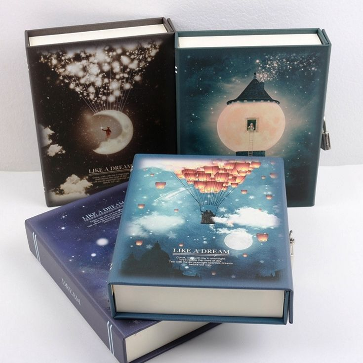 Like a Dream Diary with Lock <font><b>Notebook</b></font> Cute Functional Planner Lock Book Dairy Journal Gift Box Package