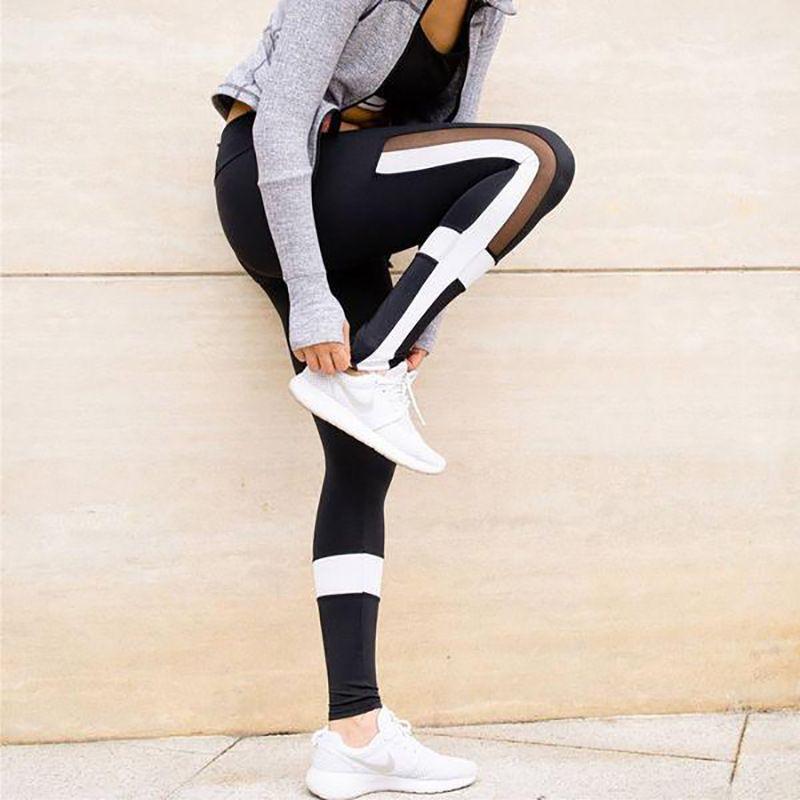 ESHINES Maille Yoga Pantalon Collants Femmes Fitness Sport Femme Push UP Leggings Femmes Sport Leggings Vetement Sport Femme de Remise En Forme Pantalon