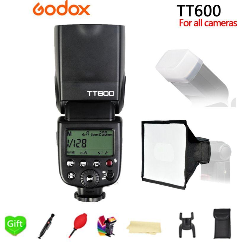 Godox TT600 TT600S Builtin GN60 2.4G Wireless Trigger System Flash Speedlite for Canon Nikon Sony Pentax Olympus Fujifilm Camera