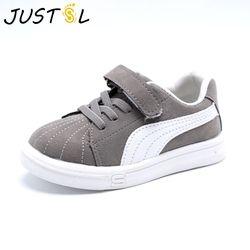 Justsl primavera otoño Bebé Zapatos de lona de las muchachas de los planos con los zapatos ocasionales niños antideslizante Zapatillas moda tamaño 21-30