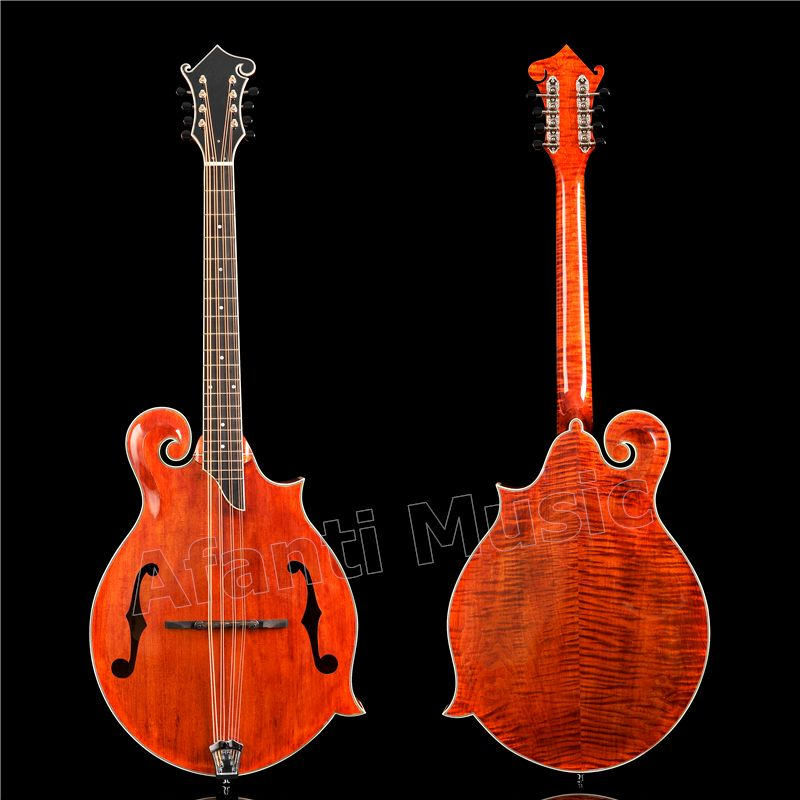 Afanti Solid Spruce top /  Solid Flamed maple Back & Sides / Afanti factory Mandocello (AMB-903)