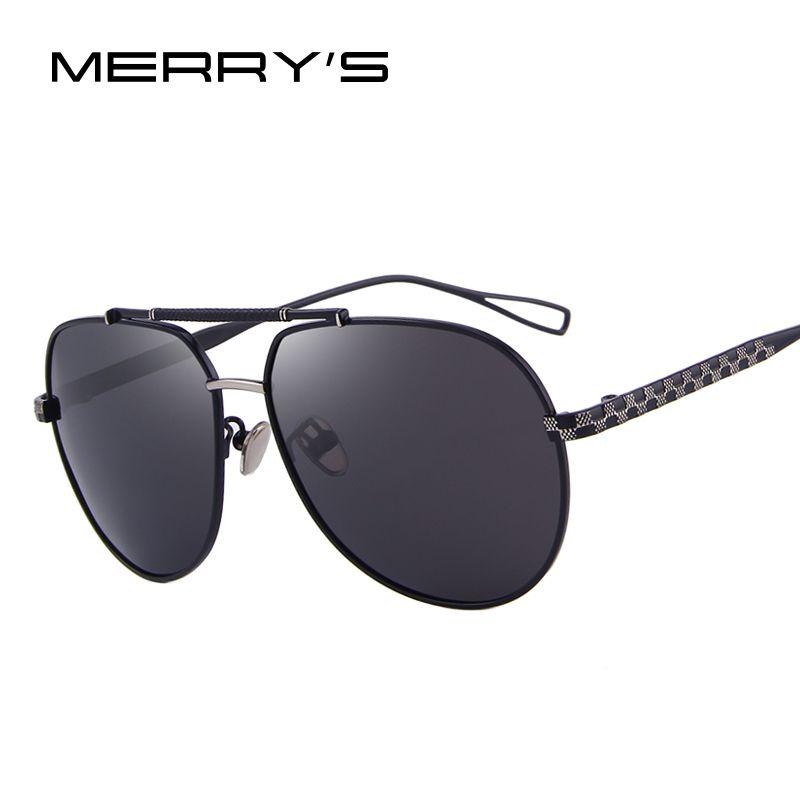MERRY'S DESIGN Men Polarized Pilot Sunglasses <font><b>Luxury</b></font> Male Eyewear 100% UV Protection S'8455