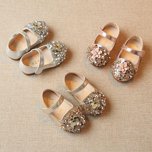 2018 Новая мода diamond для девочек в цветочек для принцессы обувь на плоской подошве От 0 до 2 лет малышей Обувь кожаная для девочек красивое плат...