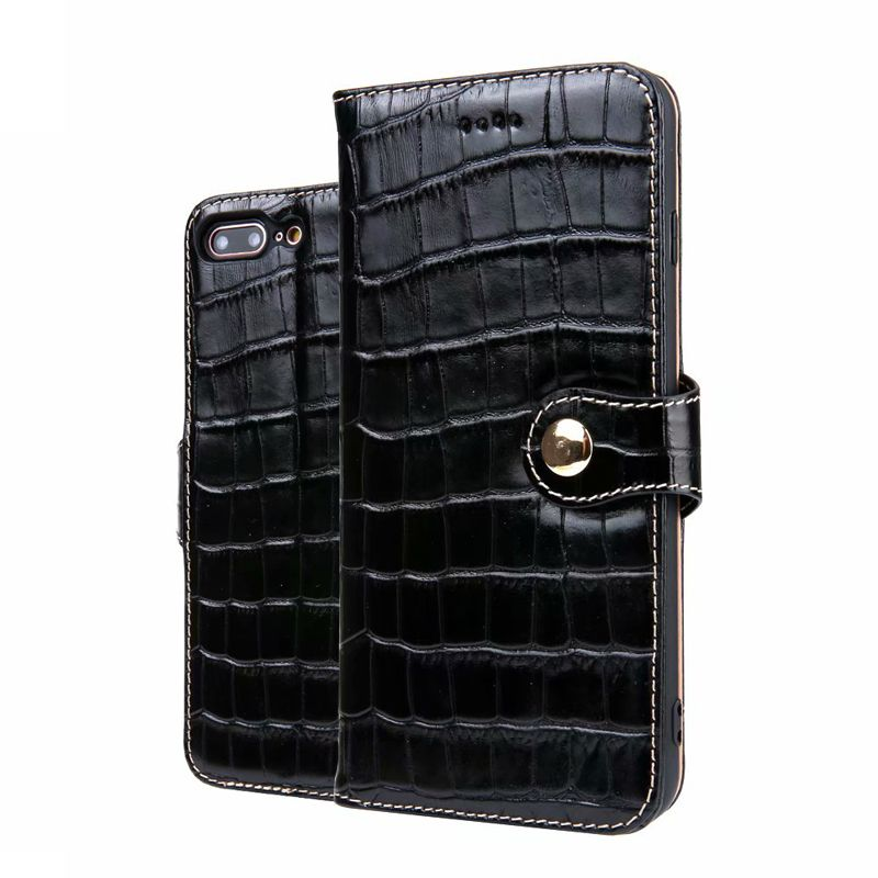 CKHB Phone Leather Case For iPhone 7 8 Plus Crocodile Wallet style Flip Case For iPhone 7Plus 8Plus Card Holder Phone Cases&bag