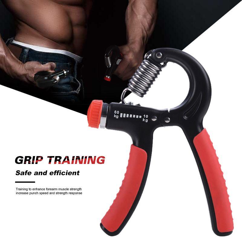 10-60Kg Adjustable Heavy Gripper Fitness Hand Exerciser Grip FatGrip Wrist Increase Strength Spring Finger Pinch Carpal Expander