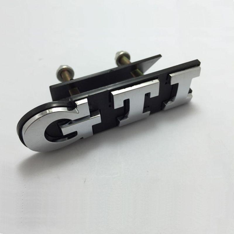 3 color 1Set GTI Front Grille Emblem Metal Car Head Grill Badge Sticker for Volkswagen VW Polo Golf 4 Golf 5 Golf 6 Car Styling