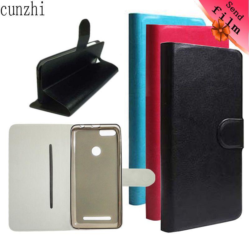 cunzhi Leagoo Kiicaa Power Case, Soft Shell Inner + PU Leather Flip Cover For Leagoo Kiicaa Power (Gift Screen Protector Film)
