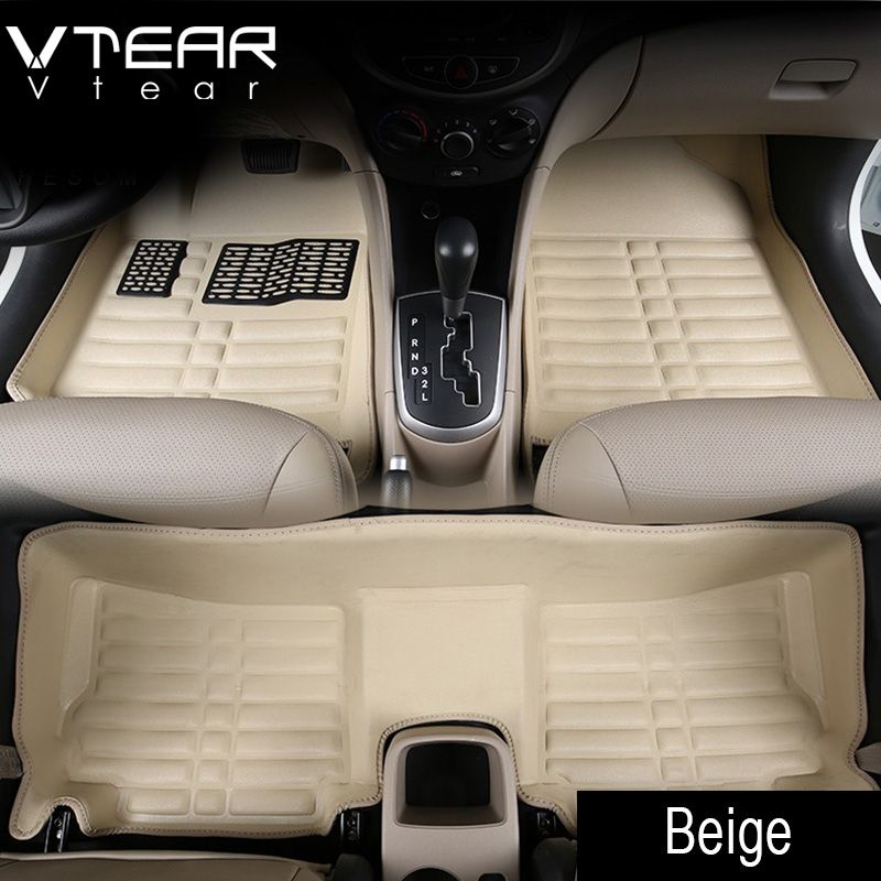Vtear For Creta Hyundai ix25 Car Floor Mats interior leather pad waterproof durable rugs car-styling products creta accessory