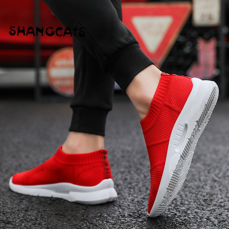 Trend 2018 Socks Sneakers Men sepatu pria Breathable Casual Shoes Men Fashion Man Sneakers Comfortable Men's Shoes Without Lace