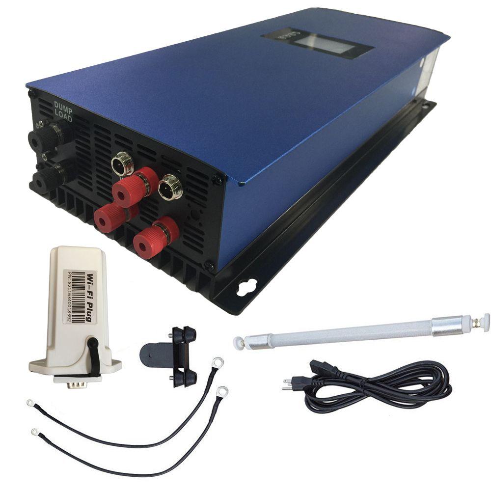 2000 Watt Rasterfeldriegelinverter MPPT Rein Sinus mit Dump lastwiderstand, 45-90 V begrenzen/wifi optional für 3 phase AC Windkraftanlagen