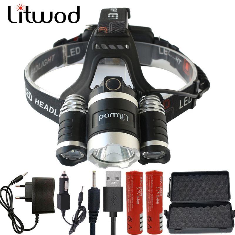LED Phare 12000 Lumen Puces 3x XM-L T6 LED Tête Lampe De Poche Lanterna 4 Commutateur Modèle Led Projecteur Choisir Pour camping