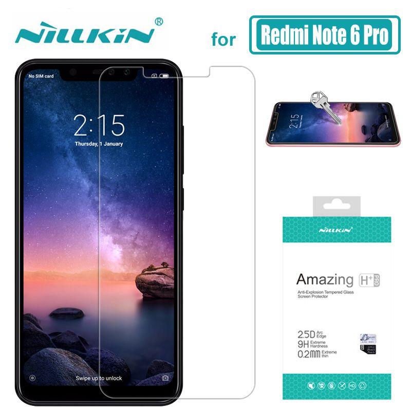 Nillkin pour Xiaomi Redmi Note 6 Pro Verre 9 H + Pro Trempé Écran de Verre Protecteur 0.2mm pour Xiaomi redmi Note 5 Pro Nilkin Verre