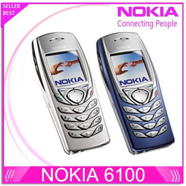 Original NOKIA 6100 Mobile Handy Unlocked GSM Triband Refurbished 6100 Handy Billig Handy freies verschiffen