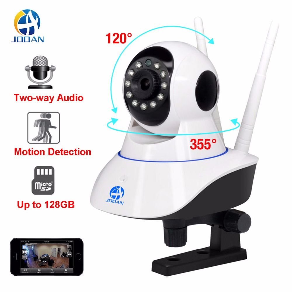 JOOAN 720P Wi-Fi Wireless IP Camera Security Home Network Video Surveillance Night Vision Smart Indoor Baby Monitor