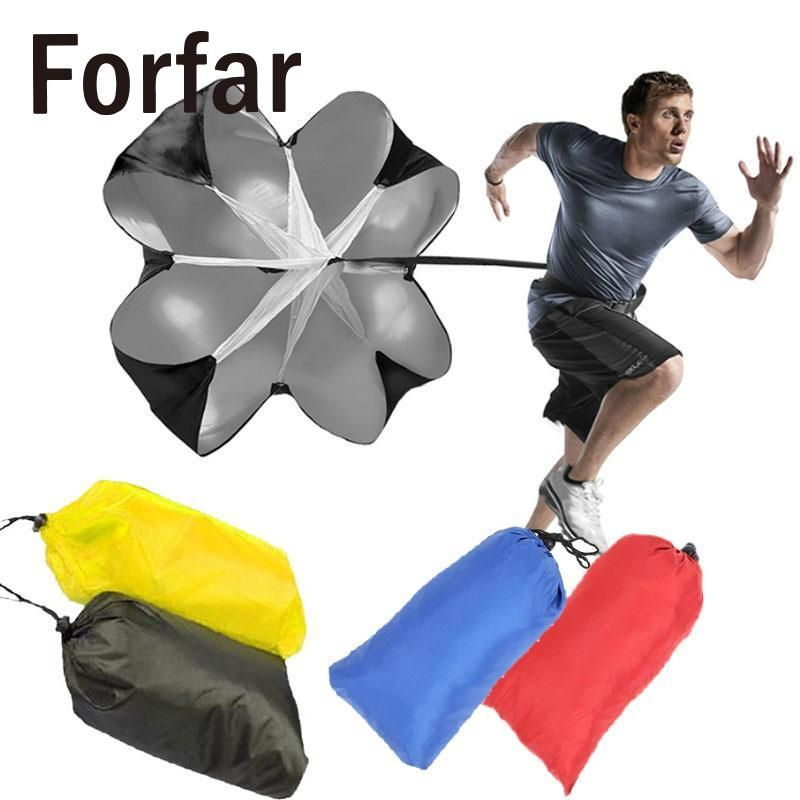 Forfar Professional Speed Resistance Parachute Running Chute Exercise Red/Blue