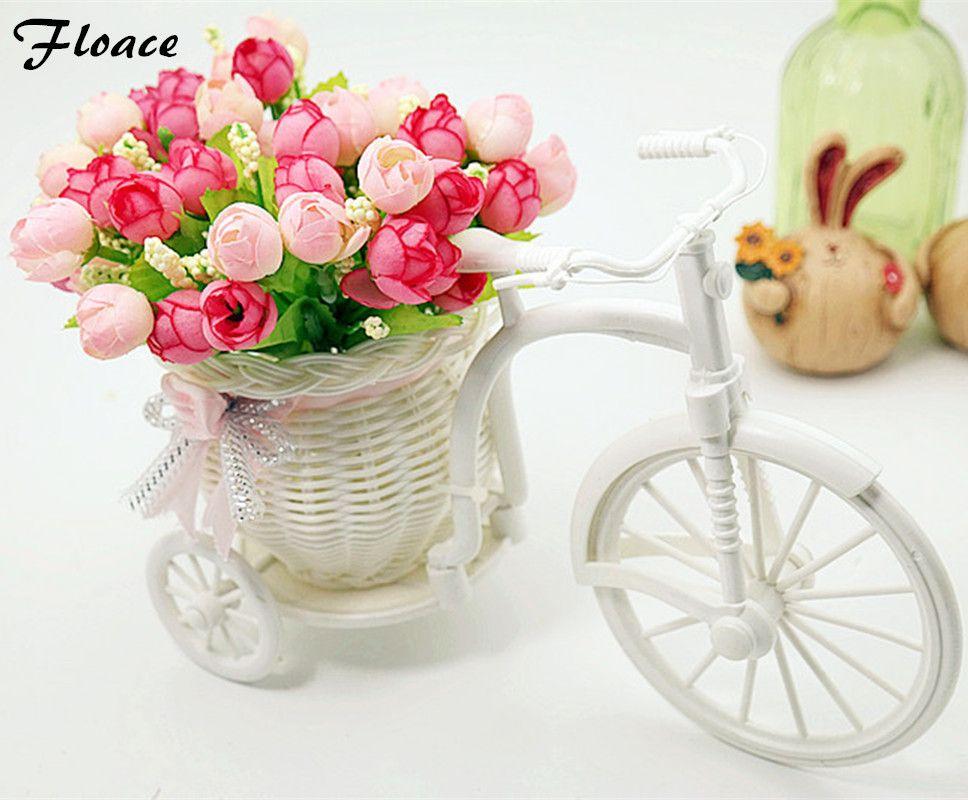 Vase en rotin de qualité Floace + fleurs mètres orchidée ensemble de fleurs artificielles décoration de la maison FL13008