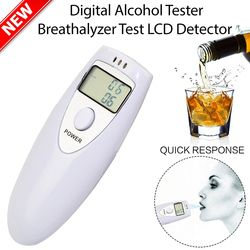 1pc Professional Alcohol Analyzer Police Digital Breath Alcohol Tester HX-64 LCD Display Breath Analyzer alcohol Tester