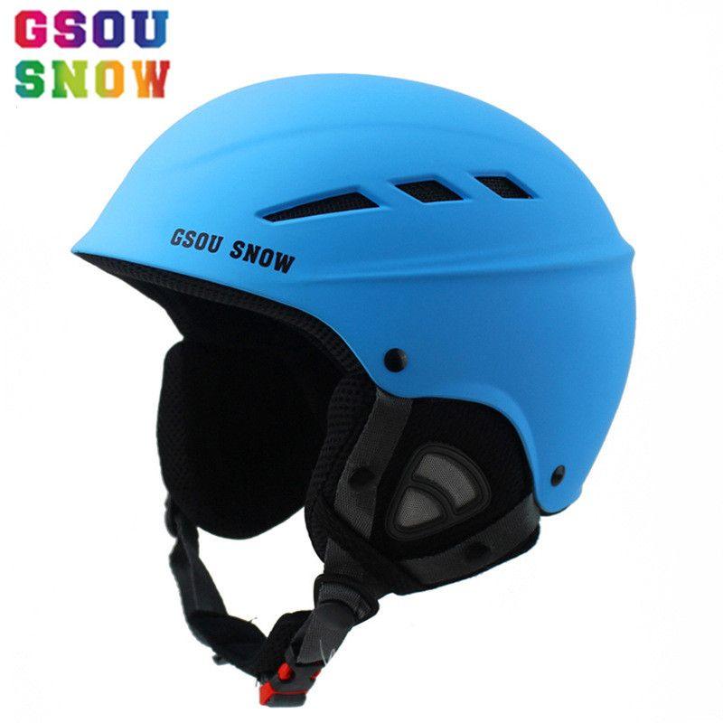 GSOU SCHNEE Männer Frauen Ski Helm Verkaufatmungsultralight Skifahren Kappen Erwachsene Snowboard Skateboard Winter Outdoor Sport Sicherheit Hut