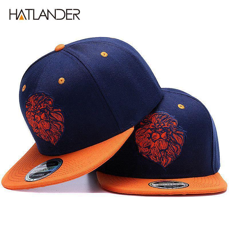 Chapeau de snapback de broderie de visage de lion de haute qualité chapeau de hip hop de roi frais pour des garçons et des filles