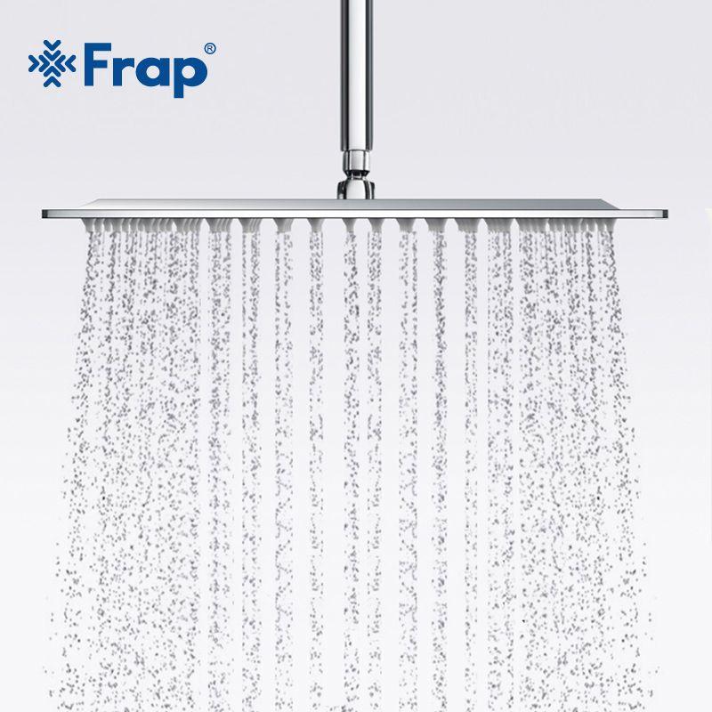 Frap Новое поступление 300*300 мм Площадь 304 Нержавеющаясталь насадка для душа смеситель для душа верхний f28-3