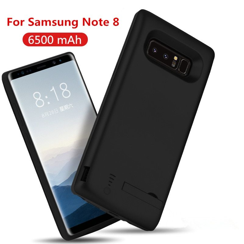 5000/6500mAh Portable Powerbank Battery Charger Case For Samsung Galaxy Note 8 9 S8 Plus External Backup Power Bank Case