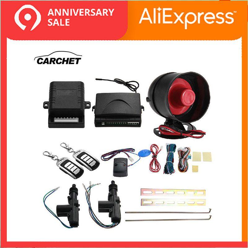 CARCHET universel 2 Set voiture télécommande sans clé système d'alarme Kit étanche 12 V verrouillage Protection Central véhicule contrôleurs
