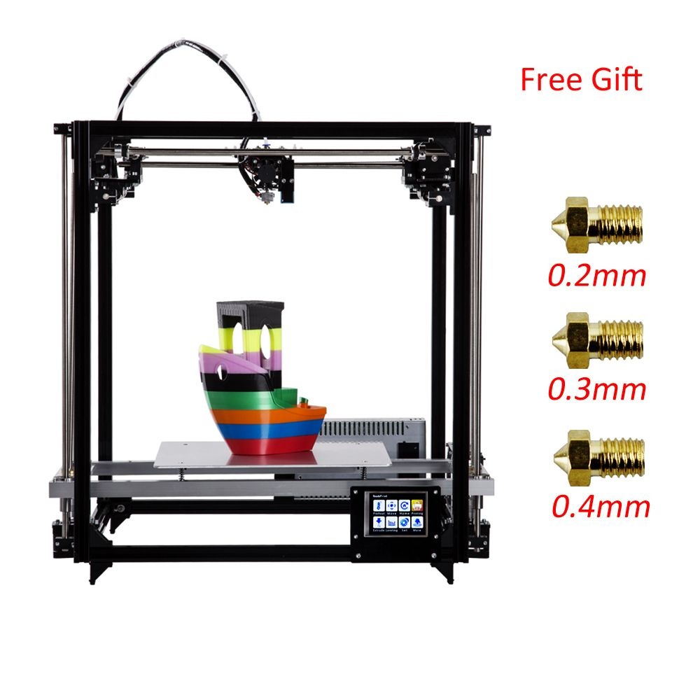 Germany Warehouse Flsun 3D Printer Kit Large Printing Size 260*260*350mm Touch Screen Printer 3d Heated Bed Two Rolls Filament