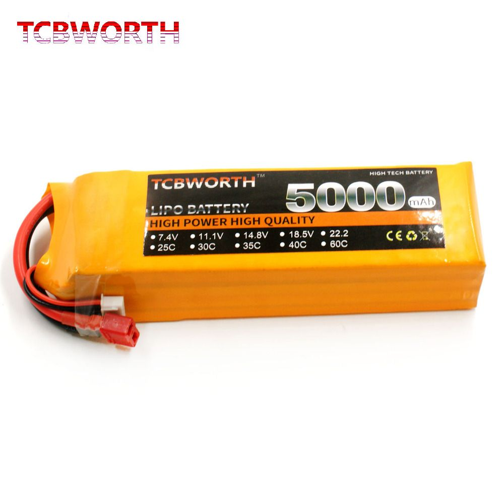RC LiPo Battery 2S 7.4V 5000mAh 60C for RC Airplane Helicopter Quadcopter Li-ion Batteria 2S T/XT60