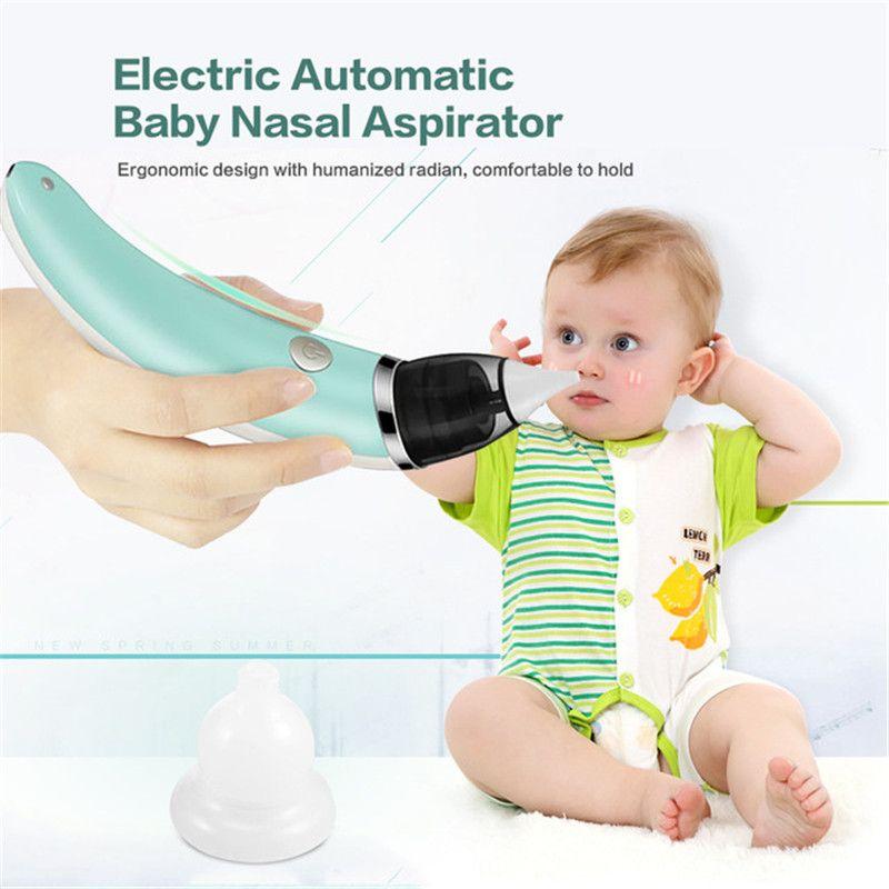Baby Nasal Aspirator Electric Nose Cleaner Sniffling Equipment Detachable 5 level adjustable Nose Tips Oral Sucker for Children
