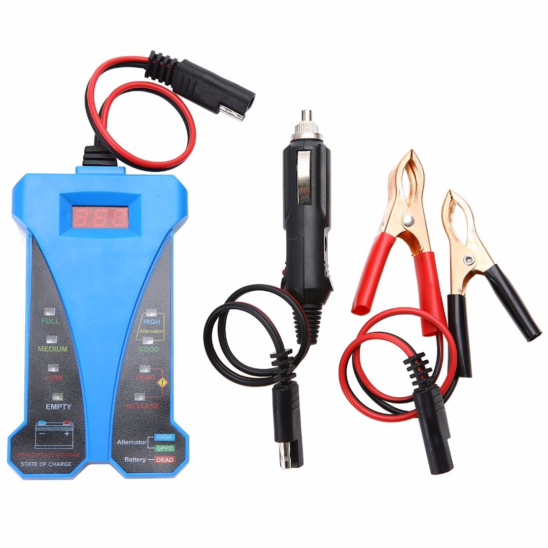 New 12V Car Vehicle Smart Digital Battery Tester Voltmeter Alternator Analyzer With LED Display Auto Diagnostic Repair Tools