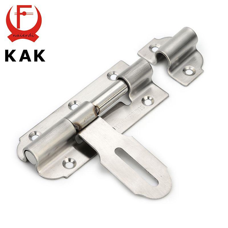 Kak-5111 304 edelstahl türriegel security guard hebelwirkung flush latch 4 zoll rutsche riegelschloss für möbel hardware