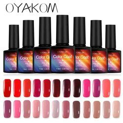 OYAKOM 7.5 ml Vernis À Ongles Nail Gel Soak off LED UV Hybride Gel Vernis Nail Primer Gel Laque Rouge Rose Sexy Couleur Nail maquillage