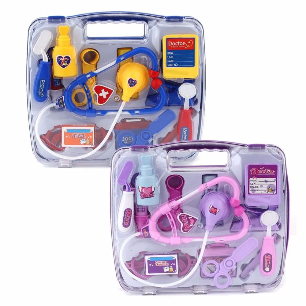 Hot! Kids Educational Pretend Doctor Case Toy Set Child Medical Kit Doctor Case Juguetes Nurse Roleplay Toy Set Gifts New Sale