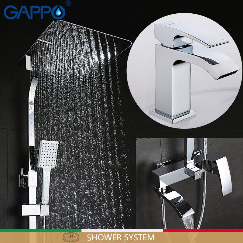 GAPPO badewanne wasserhahn badewanne mischer waschtischarmaturen becken mischbatterie robinet baignoire dusche system