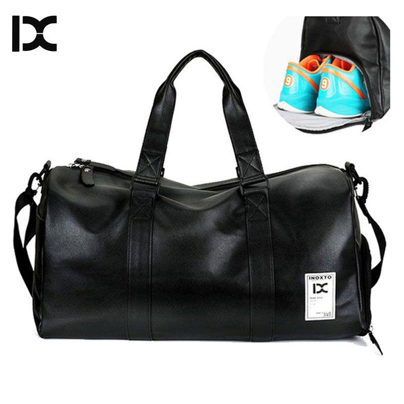 2019 neue IX Marke männer PU Leder Sporttasche Sporttasche Für Fitness Frauen Handtasche Ausbildung Schulter Tasche Mit schuhe Tasche XA688WD