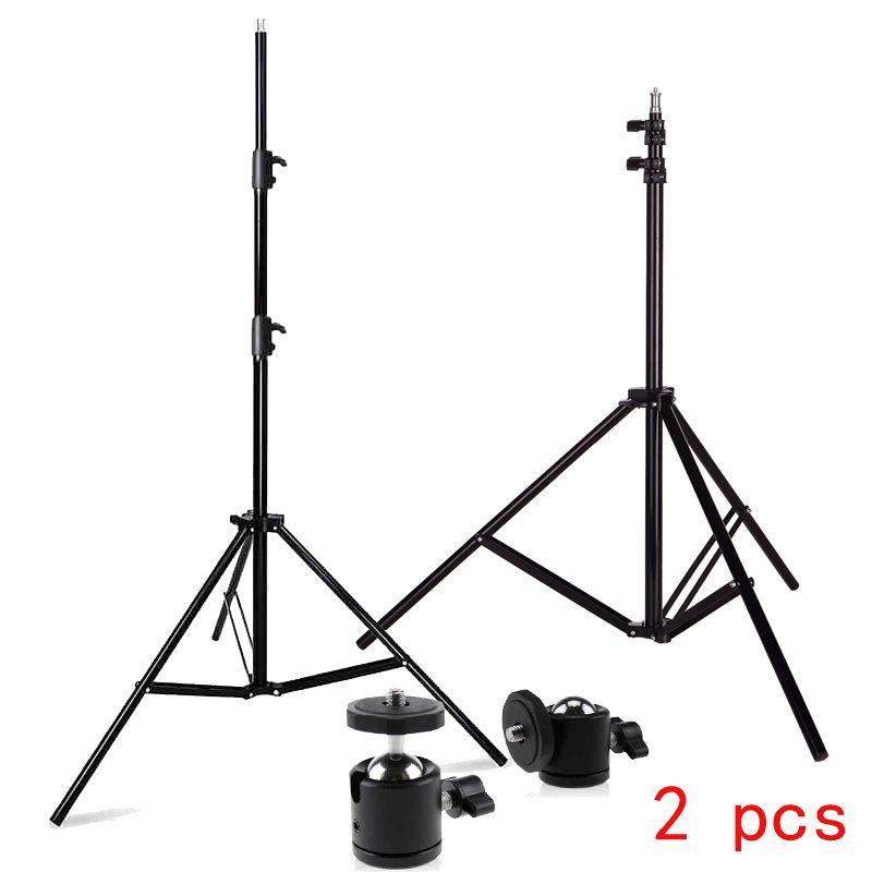Photo Studio 2 pièces Supports de Lumière Professionnel 6.6ft 2M Support Lumineux dont Mini Trépied Rotule pour HTC VIVE Jeu Stand