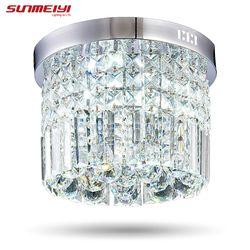 Moderne Cristal LED Plafond luminaire Pour Intérieur Lampe lamparas de techo Surface De Montage Au Plafond Lampe Pour Chambre Salle À Manger