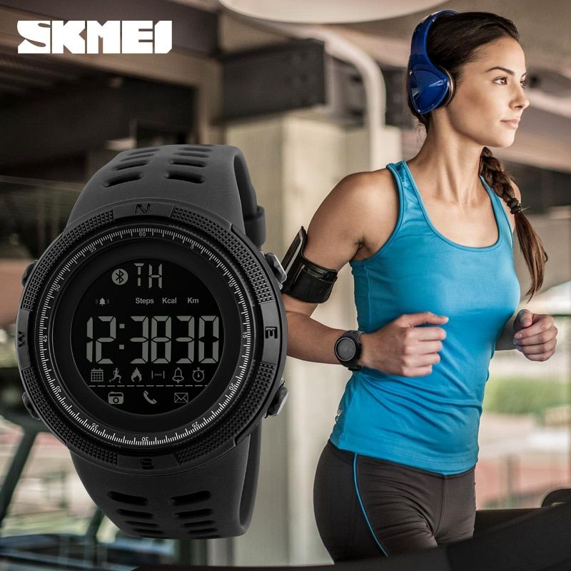 New Bluetooth Smart Watch SKMEI Brand For Apple IOS Android Digital Smartwatch 50M Waterproof Fashion <font><b>Pedometer</b></font> Sport Watches