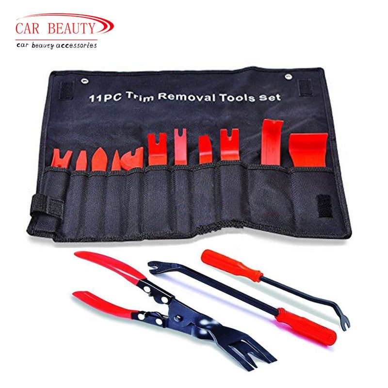 Car Upholstery Tool Strong Nylon Trim Tool Clip Remover Vehicle <font><b>Door</b></font> Molding Dash Panel Rivet Buckle Pliers Fastener Repair Kit