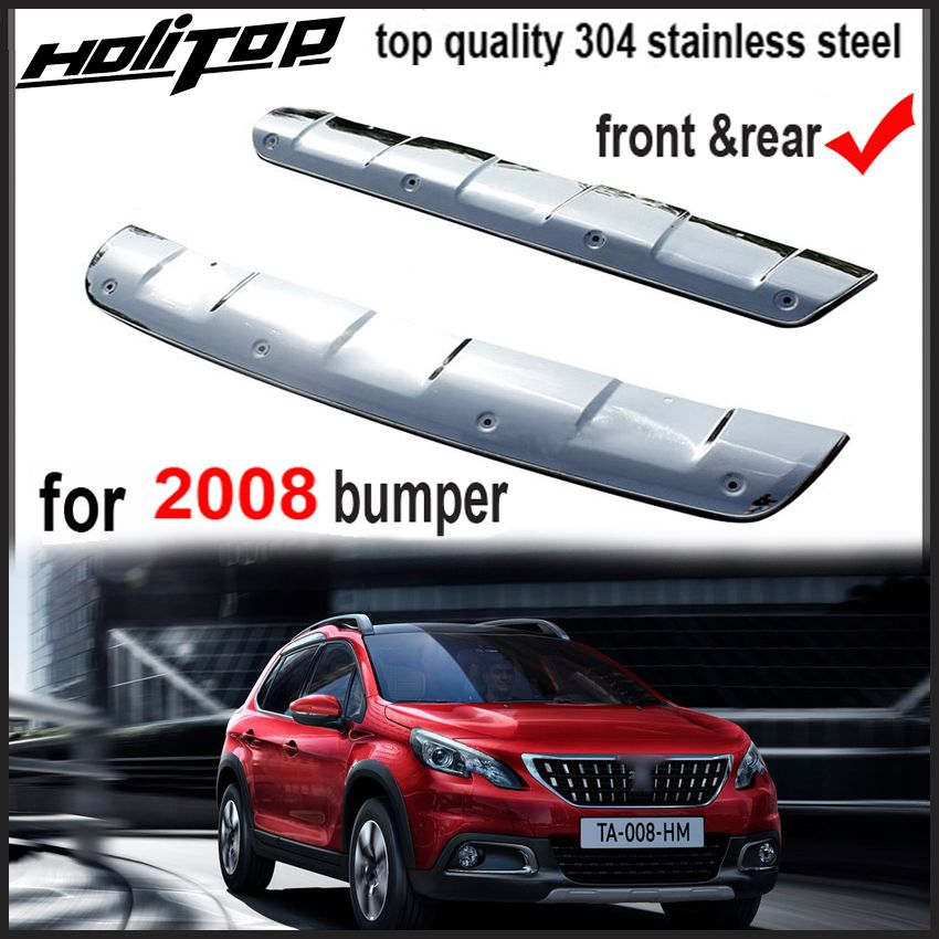 New arrival bumper guard bumper protection cover skid plate for Peugeot 2008, 2pcs/set,304 stainless steel,ISO9001 quality