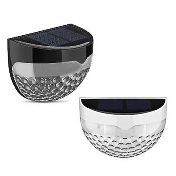 4 pcs Solaire 6 LED Lumière Lampes de Jardin En Plein Air Étanche Clôture Cour Mur Lampe Auto Capteur Intelligent Lampes D'éclairage Sans Fil