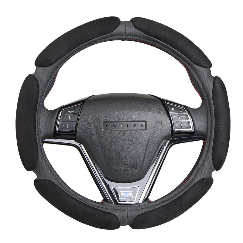 Non-slip Steering-Wheel Cover with 3D Design/Flocking clothcar steering wheel braid diameter 38CM For 95% Car