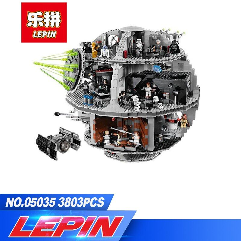 DHL Lepin 3804pcs 05035 Star Wars Death Star Building Block Bricks Toys Kits Compatible with legoed 10188 Child Gift
