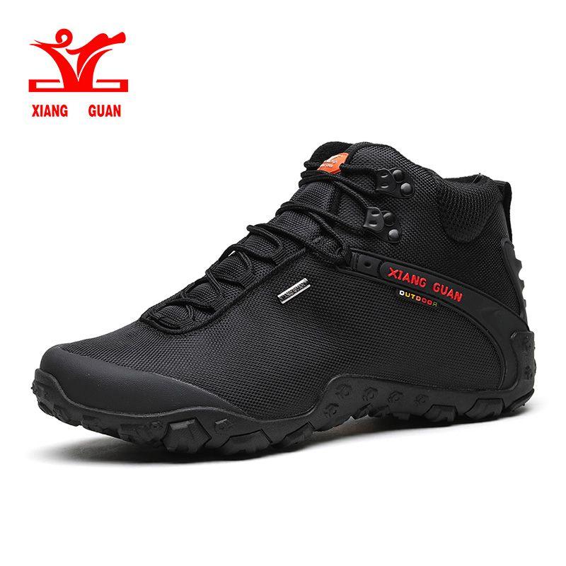 XIANG GUAN Mann Outdoor Wandern Schuhe Athletisch Trekking Stiefel schwarz atmungsaktiv männlichen Klettern Reise Wandern Turnschuhe 36-48