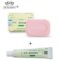 Psoriasis crema antibacteriana azufre ZUDAIFU hecho a mano chino hierbas frenar bacterias azufre jabón Baño de blanqueamiento