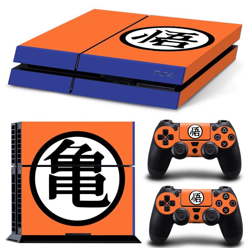 Dragon Ball Design PVC Haut Aufkleber für PS4 Konsole und Controller