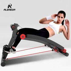 Albreda Langkah Demi Multifungsi Terlentang Papan Tarik Tali Bench Sit-Up Perut Mesin Perut Kursi Home Olahraga Peralatan Fitness