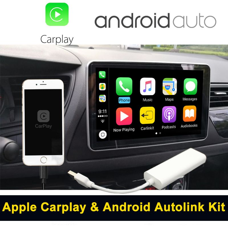 Carlinke USB Apple Carplay Dongle for Android Auto iPhone Carplay Support Android / MTK WinCE system Car Navigation Player