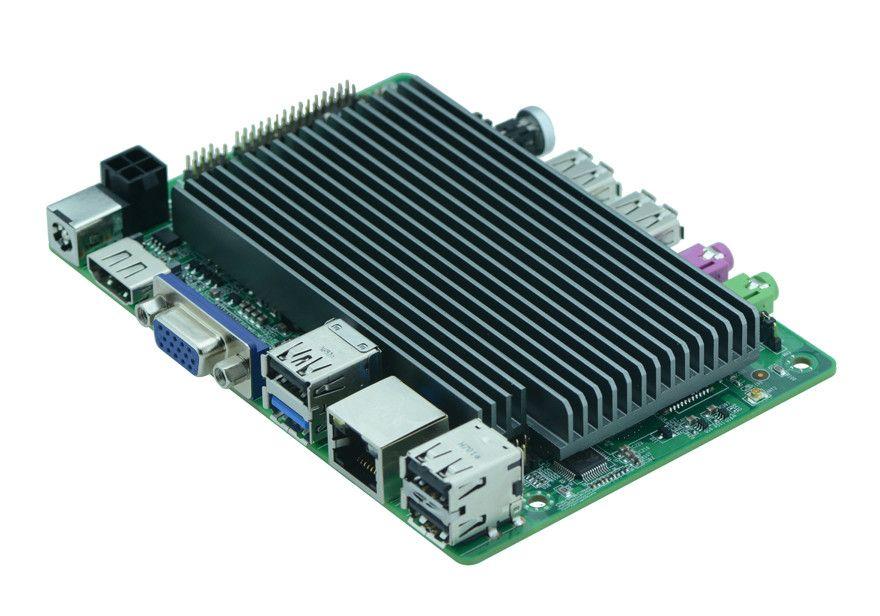 Más barato de Intel Mini PC cartón windows10 Intel cherrytrail z8350 placa base VGA lvds Display